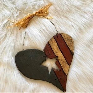 🖤$4🖤Rustic country Fourth of July heart decor